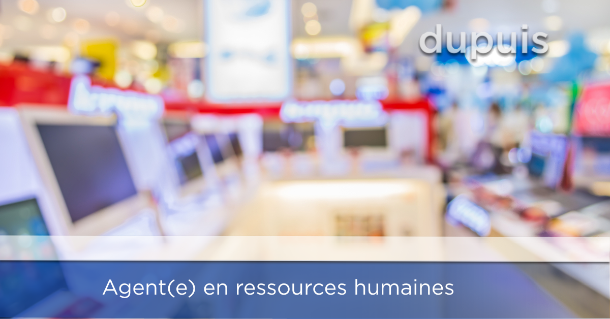 emploi agent ressources humaines