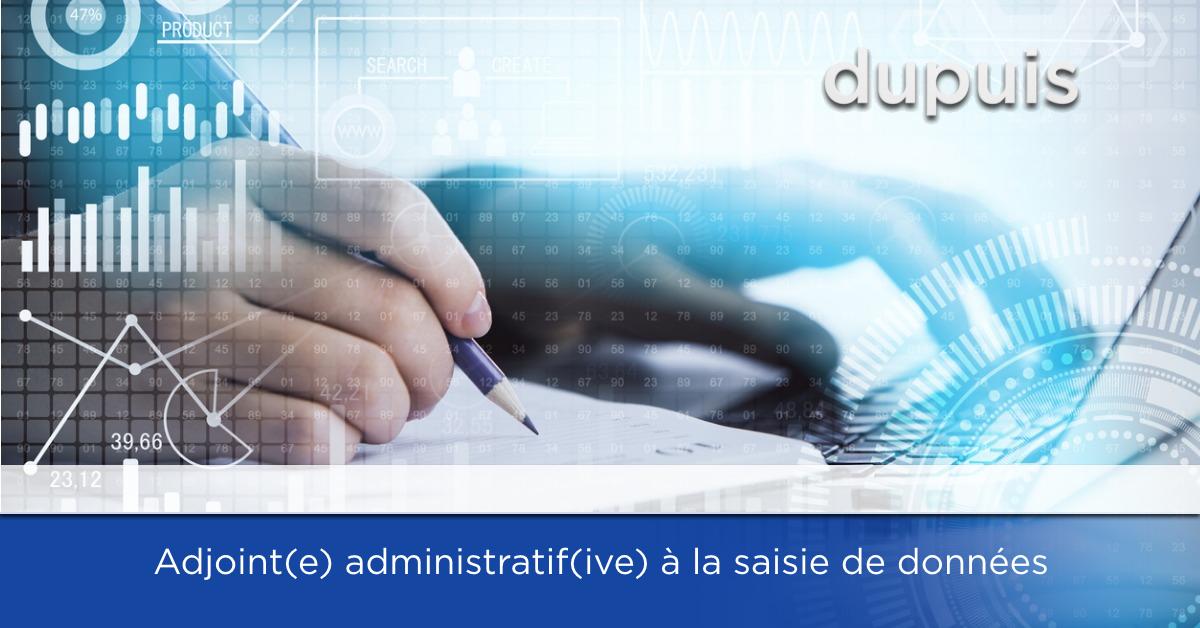 adjoint administratif saisie de données