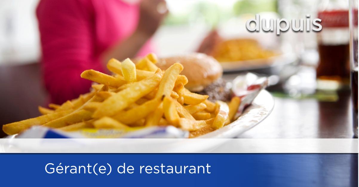 Gérant de restaurant - Joliette